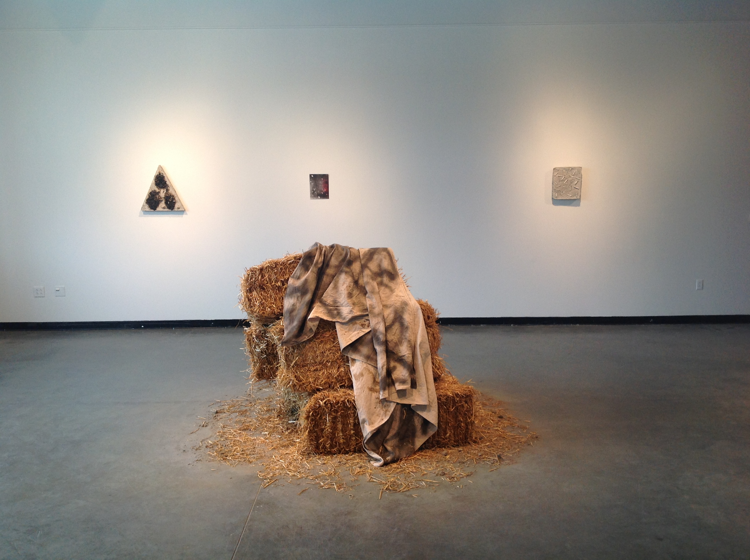 dust and hay. sacred clay. at herron school of art and design